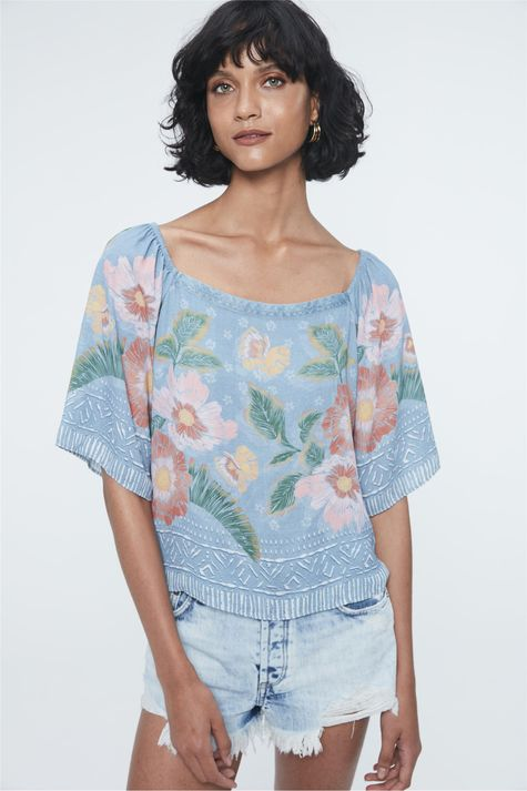 Blusa-Jeans-Ombro-a-Ombro-Estampa-Floral-Detalhe--