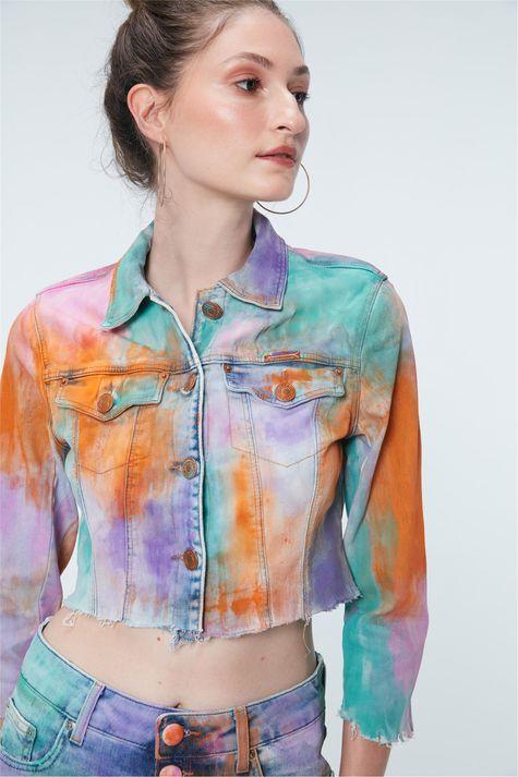 Jaqueta-Jeans-Tie-Dye-Trucker-Recollect-Frente--