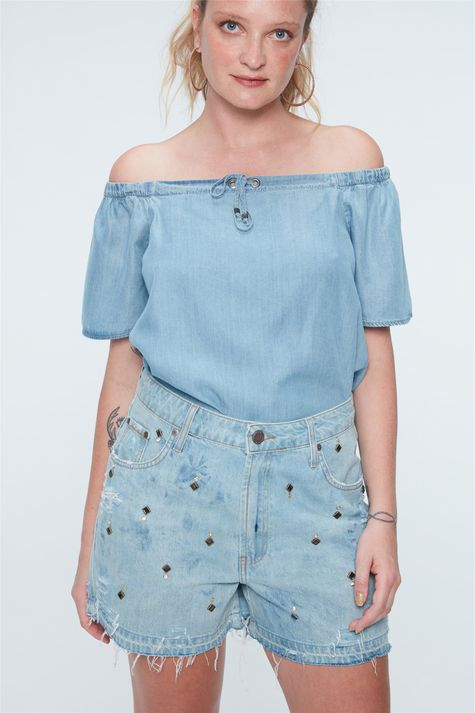 Short-Jeans-Solto-com-Tachas-Recollect-Frente--