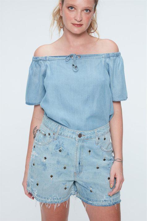 Short-Jeans-Solto-com-Tachas-Recollect-Frente--