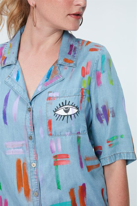 Camisa-Jeans-Colorida-Recollect-Frente--