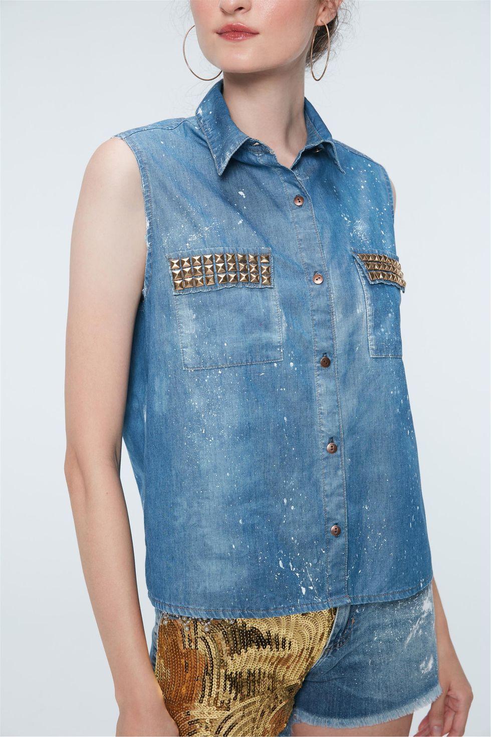Camisa-Jeans-com-Asas-de-Paete-Recollect-Frente--