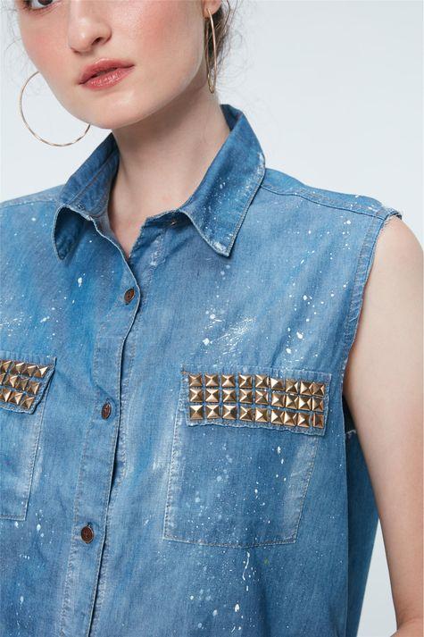 Camisa-Jeans-com-Asas-de-Paete-Recollect-Detalhe--