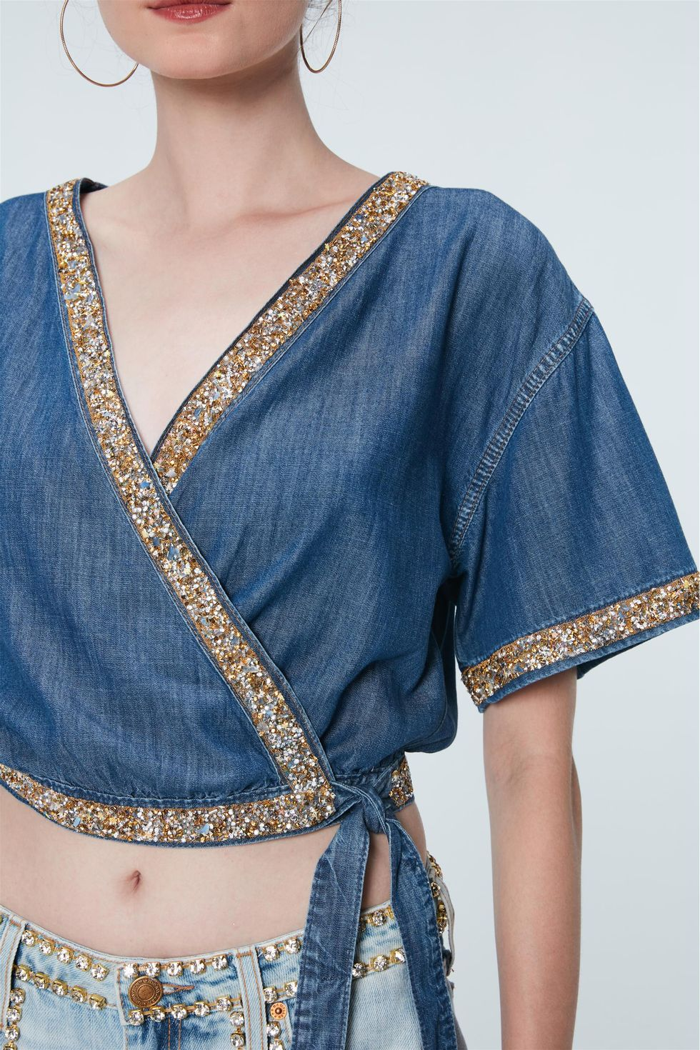 Blusa-Cropped-Jeans-com-Strass-Recollect-Frente--