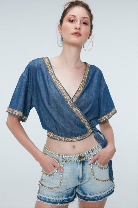 Blusa-Cropped-Jeans-com-Strass-Recollect-Costas--