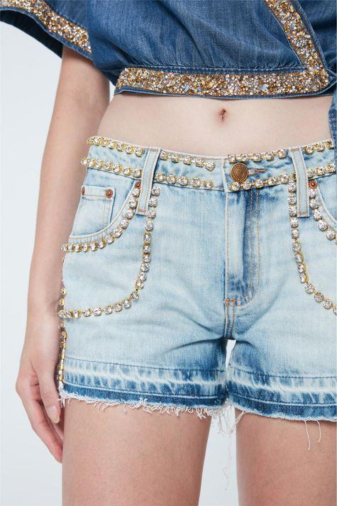 Short-Jeans-Mini-com-Strass-Recollect-Frente--
