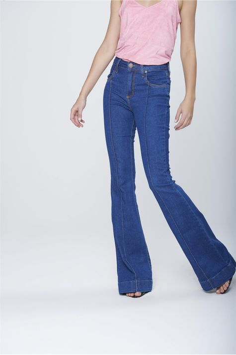 Calca-Flare-Jeans-Cintura-Alta-Feminina-Frente-1--