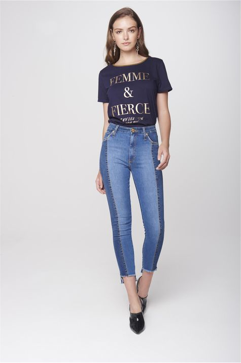 Calca-Cropped-Jeans-Patch-Cintura-Alta-Frente--