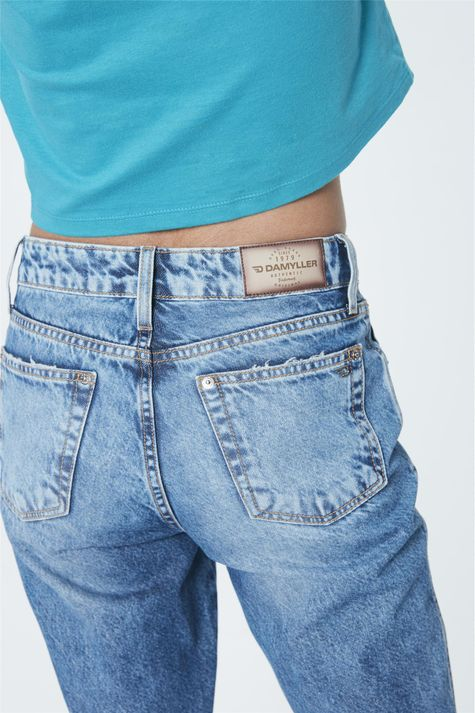 Calca-Jeans-de-Cintura-Alta-Reta-Cropped-Detalhe--