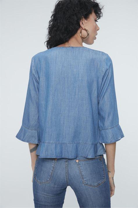 Blusa-Jeans-com-Abotoamento-Feminina-Costas--