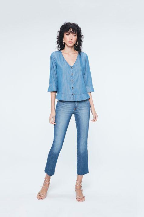 Blusa-Jeans-com-Abotoamento-Feminina-Detalhe-1--