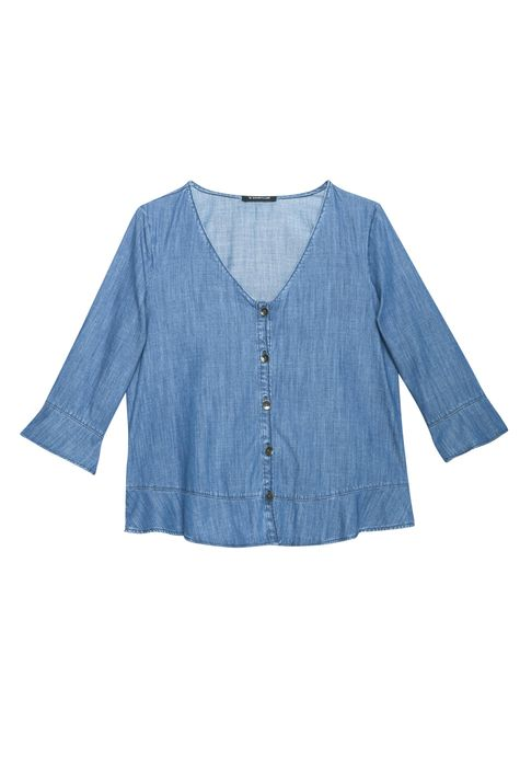 Blusa-Jeans-com-Abotoamento-Feminina-Detalhe-Still--