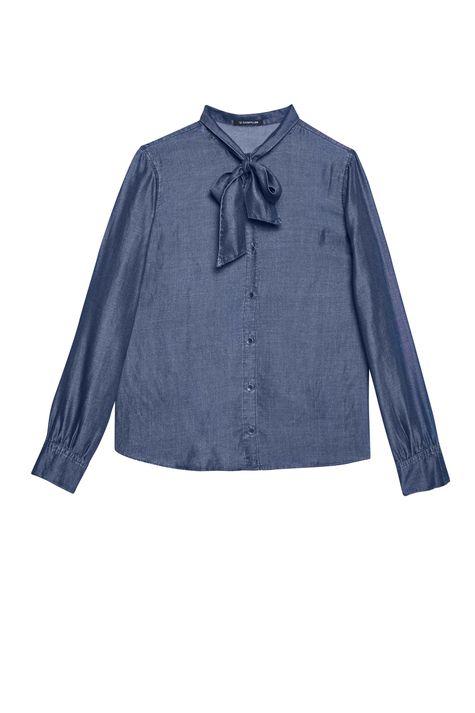 Camisa-Jeans-com-Gola-Laco-Feminina-Detalhe-Still--