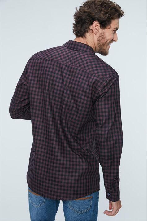 Camisa-Social-Xadrez-Masculina-Detalhe--