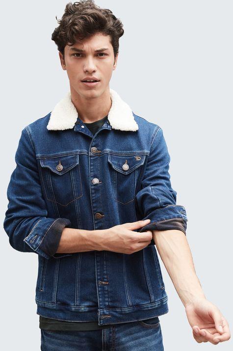 Jaqueta-Jeans-com-Gola-de-Pelo-Masculina-Frente--
