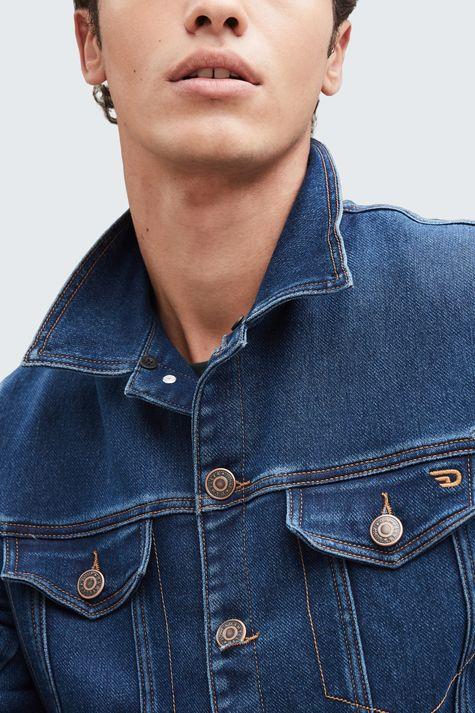 Jaqueta-Jeans-com-Gola-de-Pelo-Masculina-Costas--