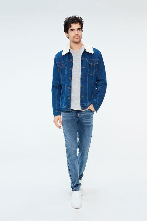 Jaqueta-Jeans-com-Gola-de-Pelo-Masculina-Detalhe-3--