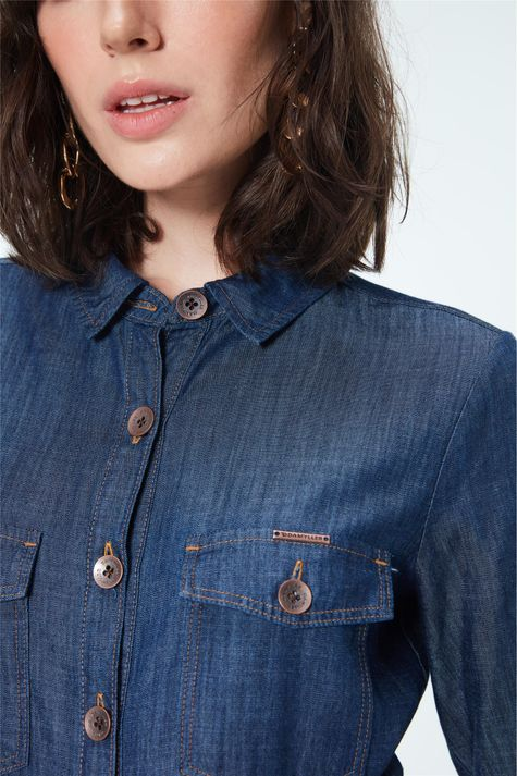 Vestido-Chemise-Jeans-com-Abotoamento-Detalhe--