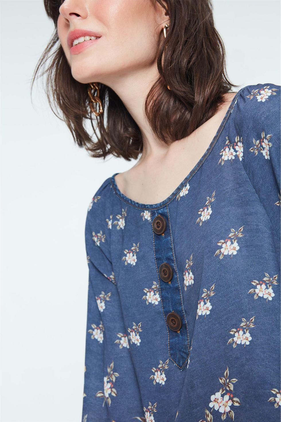Blusa-Jeans-com-Estampa-Floral-Frente--