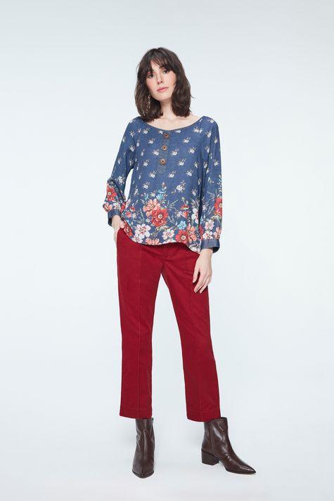 Blusa-Jeans-com-Estampa-Floral-Detalhe-1--