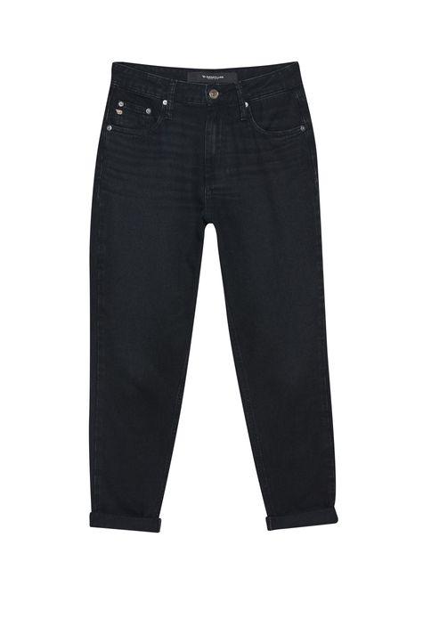 Calca-Mom-Jeans-Preta-Feminina-Detalhe-Still--
