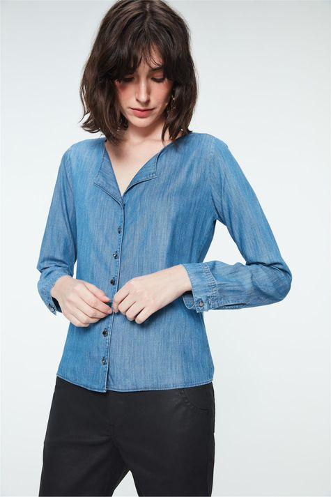 Camisa-Jeans-Azul-Medio-Feminina-Detalhe--