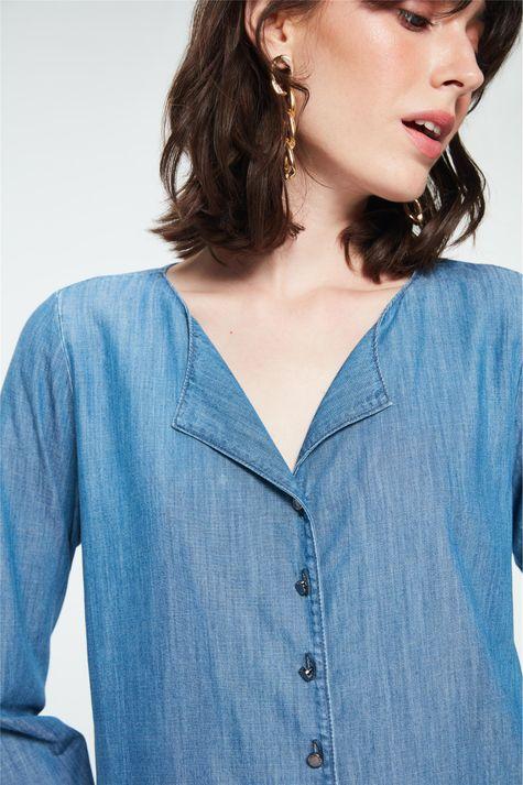 Camisa-Jeans-Azul-Medio-Feminina-Frente--