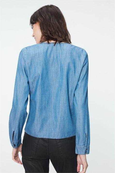 Camisa-Jeans-Azul-Medio-Feminina-Costas--