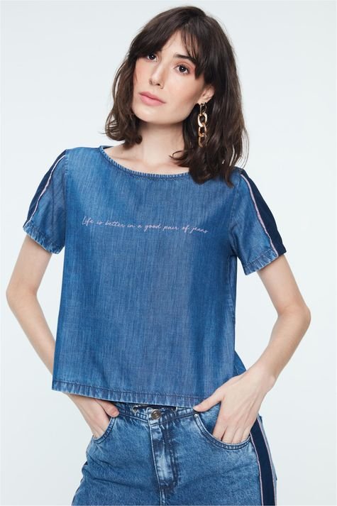 Blusa-Jeans-com-Recortes-Feminina-Detalhe--