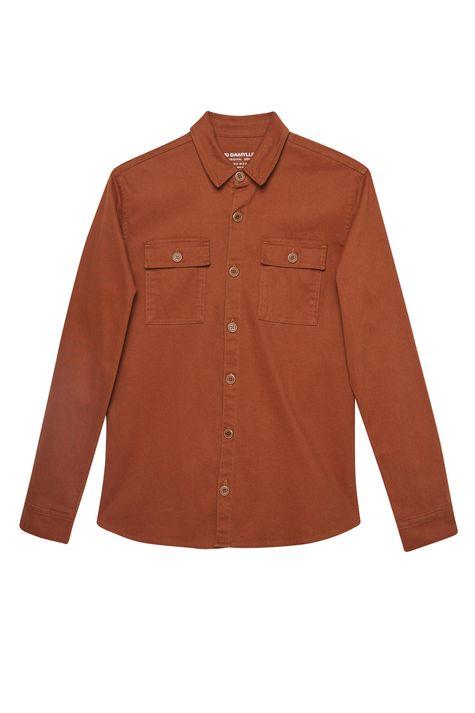 Camisa-Canelada-Marrom-Masculina-Detalhe-Still--