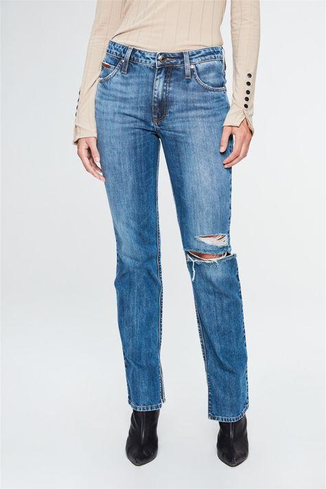 Calca-Jeans-Reta-Cintura-Alta-com-Fendas-Costas--