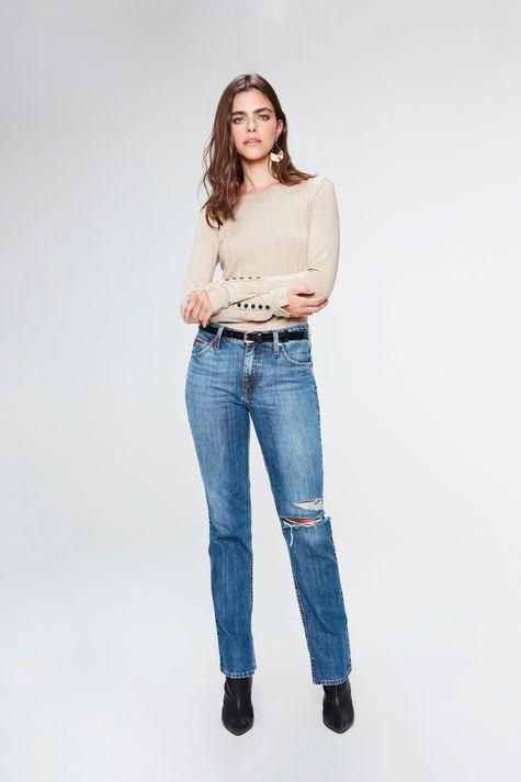 Calca-Jeans-Reta-Cintura-Alta-com-Fendas-Detalhe-1--