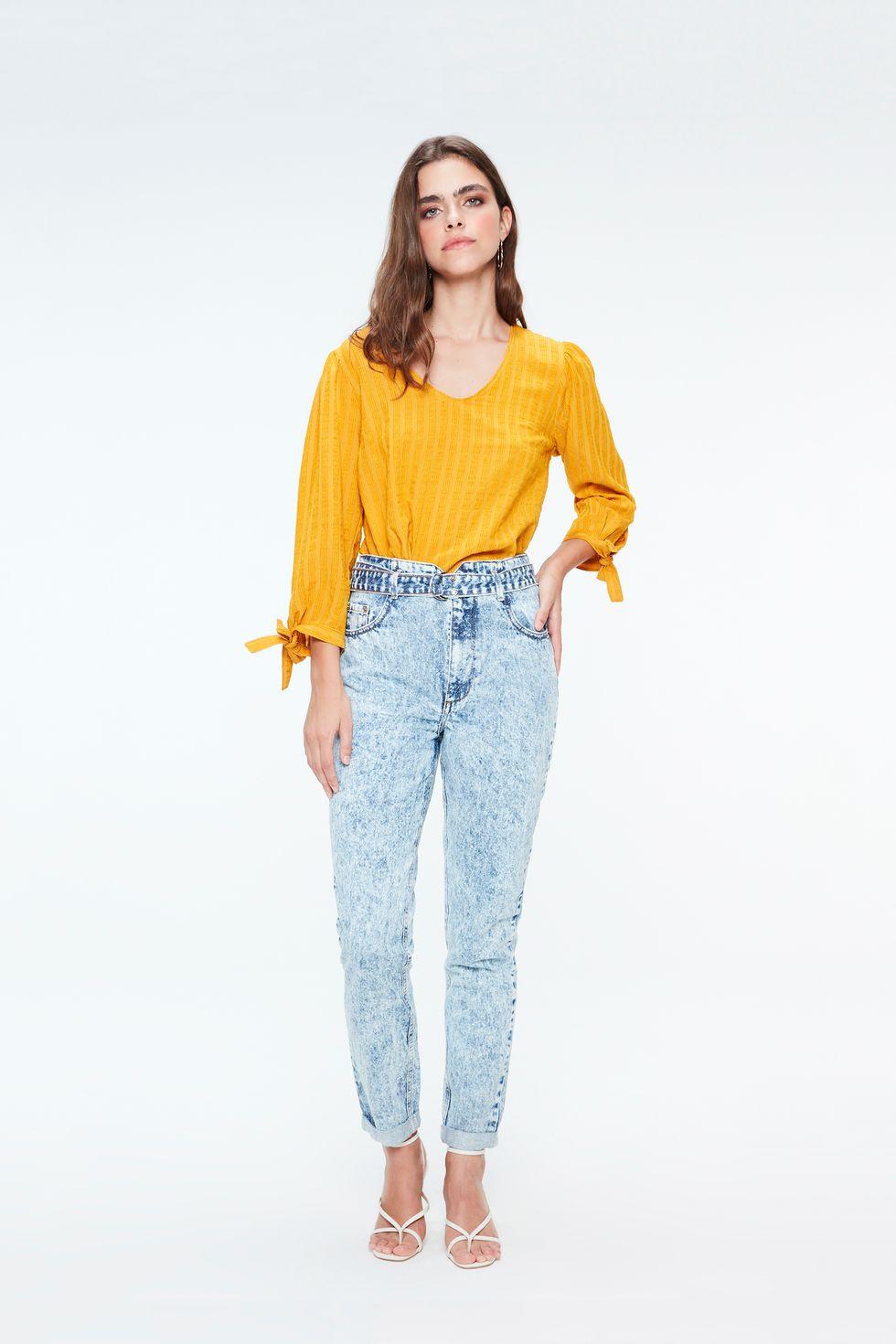 Calca-Jeans-Clochard-Cintura-Alta-Bleach-Frente--