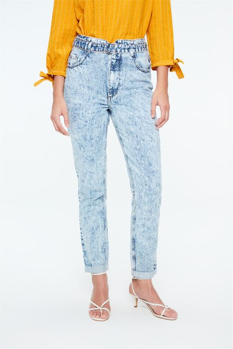 Calca-Jeans-Clochard-Cintura-Alta-Bleach-Detalhe--