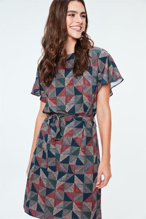 Vestido-Secretaria-de-Estampa-Geometrica-Frente--