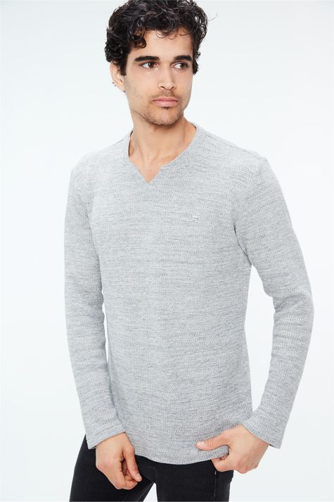 Camiseta-de-Trico-Cinza-Masculina-Frente--