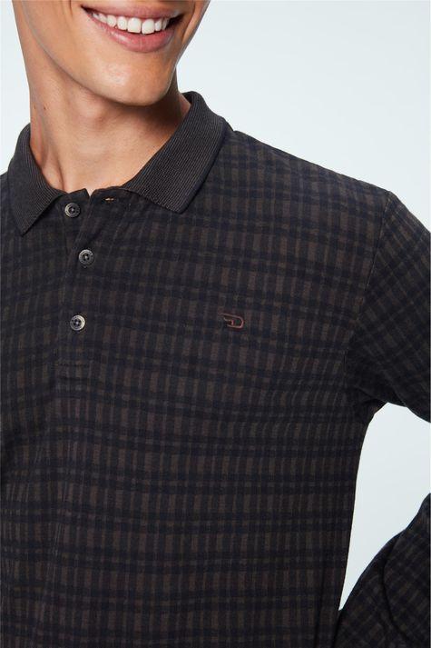 Camisa-Polo-Manga-Longa-Xadrez-Masculina-Frente--