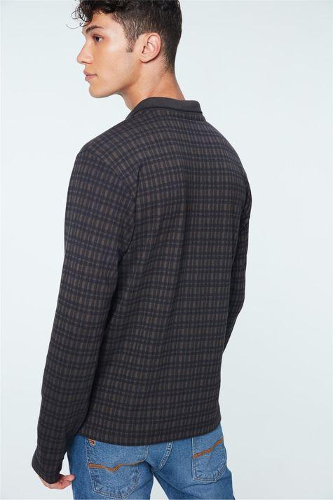 Camisa-Polo-Manga-Longa-Xadrez-Masculina-Detalhe--