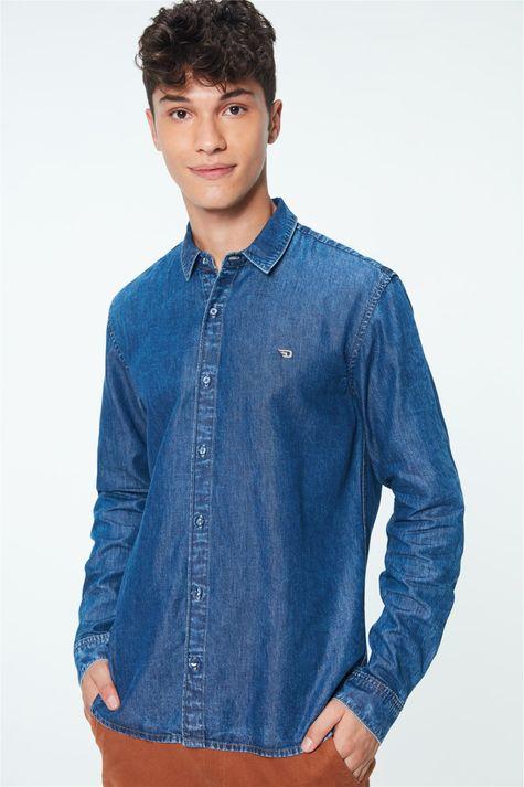 Camisa-Jeans-Azul-Medio-Masculina-Detalhe-1--