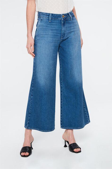 Calca-Jeans-Escura-Pantalona-Cropped-Costas--