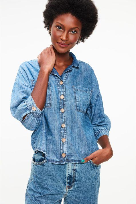 Camisa-Jeans-Manga-3-4-Ecodamyller-Frente--