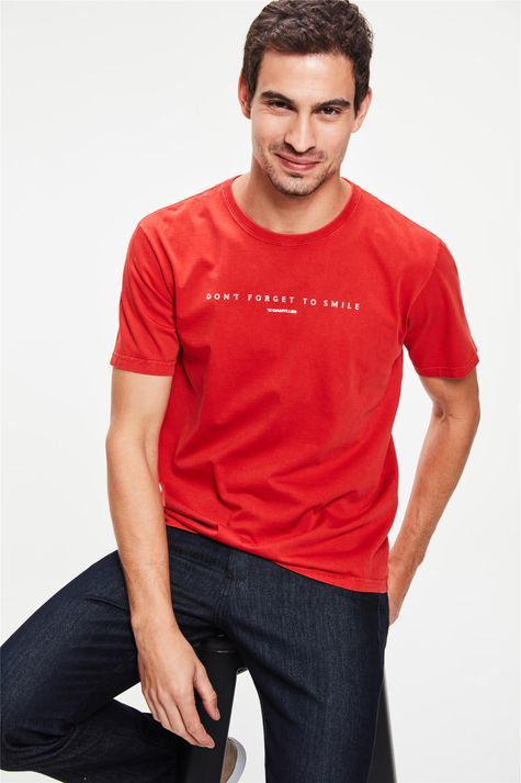 Camiseta-Estampa-Dont-Forget-To-Smile-Frente--