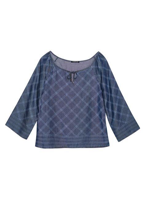 Blusa-Jeans-com-Estampa-Xadrez-Feminina-Detalhe-Still--