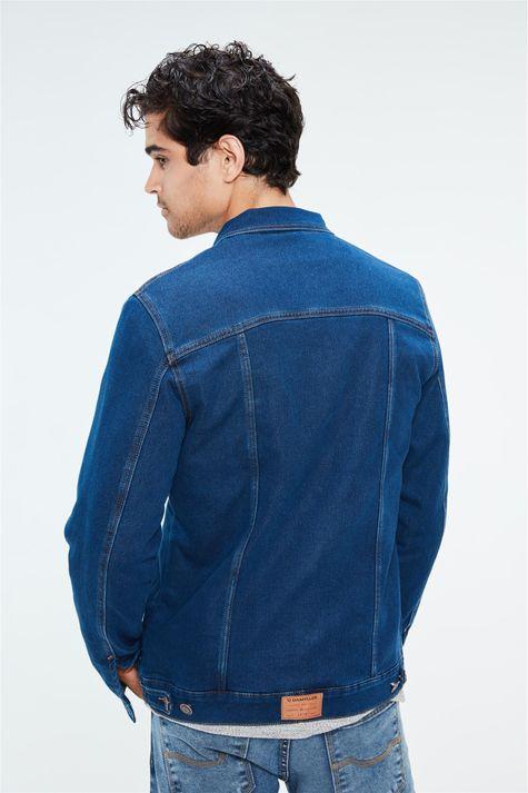 Jaqueta-Jeans-com-Gola-de-Pelo-Masculina-Detalhe--