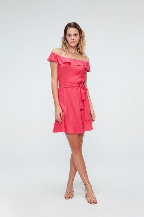 Vestido-Medio-com-Babados-Rosa-Detalhe-1--