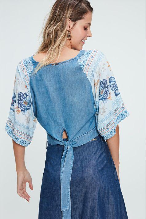 Blusa-Solta-Jeans-Estampa-de-Flores-Azul-Costas--