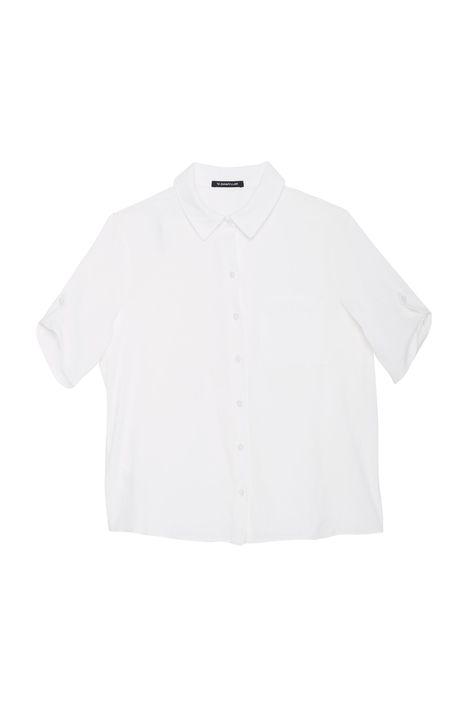 Camisa-Lisa-de-Mangas-Curtas-Feminina-Detalhe-Still--