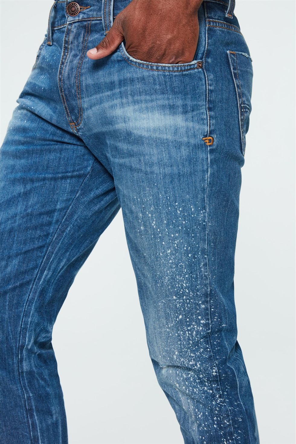 Calca-Jeans-Skinny-com-Puidos-Masculina-Frente--