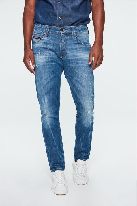 Calca-Jeans-Skinny-com-Puidos-Masculina-Frente-1--