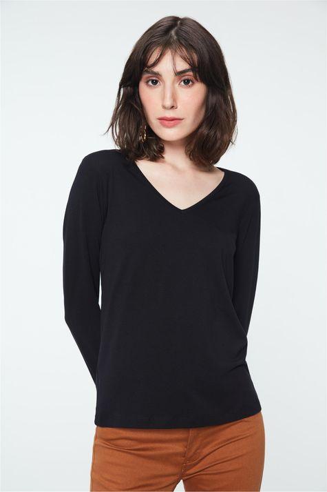 Camiseta-Manga-Longa-Decote-V-Feminina-Frente--